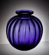 Purple Fluted Vase
