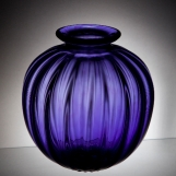 Purple Fluted Vase