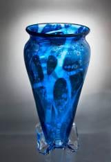Blue TriFoot Vase