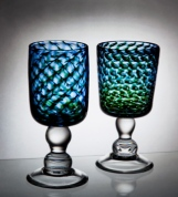 Blue Goblet Pair